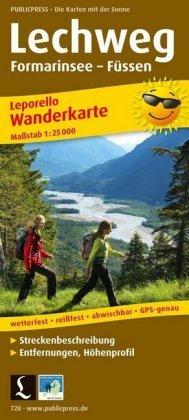 PUBLICPRESS Leporello Wanderkarte Lechweg, Formarinsee - Füssen