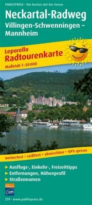 PUBLICPRESS Leporello Radtourenkarte Neckartal-Radweg