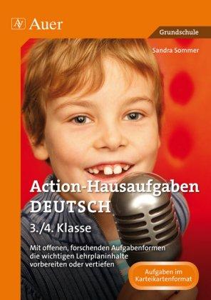 Action-Hausaufgaben Deutsch 3./4. Klasse