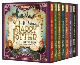 Harry Potter. Die große Box. Alle 7 Bände., 14 MP3-CDs