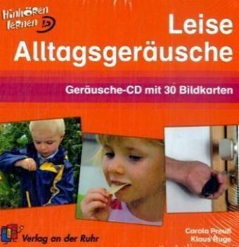 Leise Alltagsgeräusche, 1 Audio-CD + 30 Bildkarten