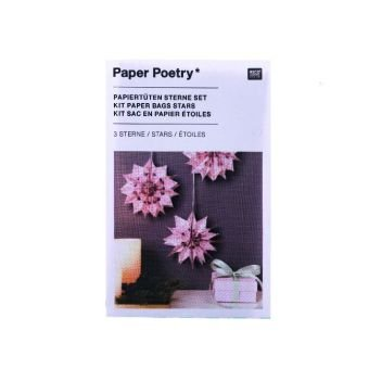 Papiertüten Sterne Set, Rosa
