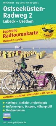PUBLICPRESS Leporello Radtourenkarte Ostseeküsten-Radweg. Tl.2