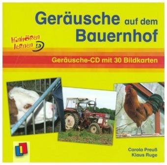 Geräusche auf dem Bauernhof, 1 Audio-CD + 30 Bildkarten