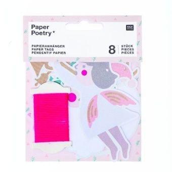 Papieranhänger, Jolly Christmas, Pastell