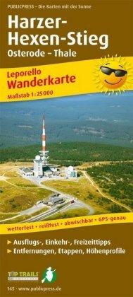 PUBLICPRESS Leporello Wanderkarte Harzer Hexen-Stieg, Osterode - Thale